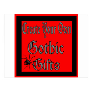 Cartão Postal Criar seus próprios modelos góticos dos presentes