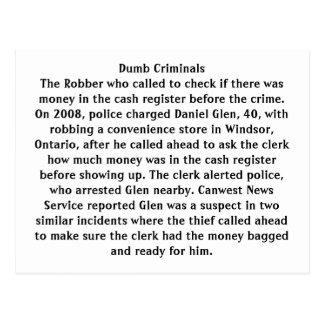 Cartão Postal Criminosos mudos