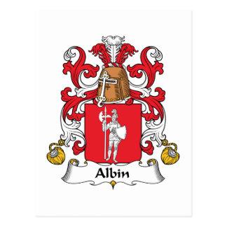Cartão Postal Crista da família de Albin