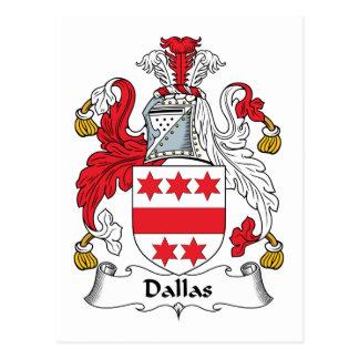 Cartão Postal Crista da família de Dallas