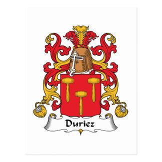 Cartão Postal Crista da família de Duriez