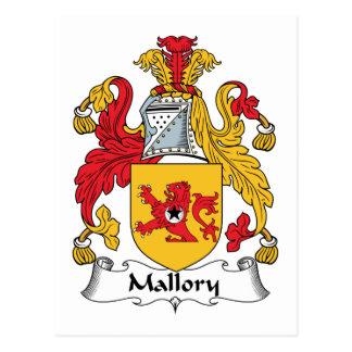Cartão Postal Crista da família de Mallory