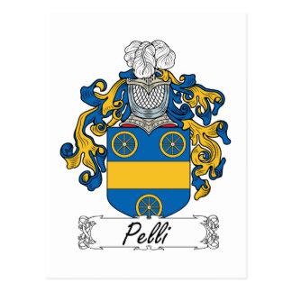 Cartão Postal Crista da família de Pelli