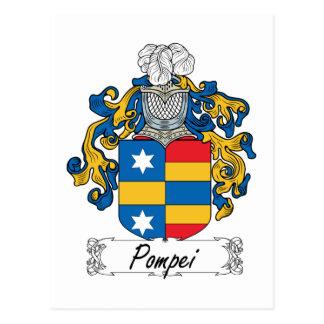 Cartão Postal Crista da família de Pompeia