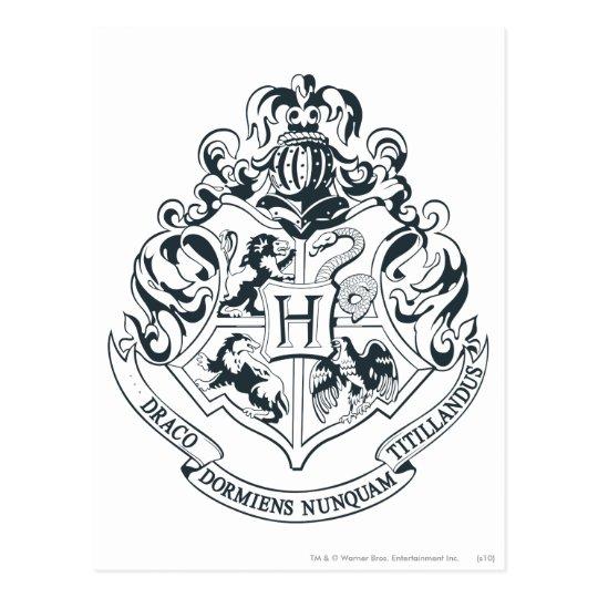 Cart 227 O Postal Crista De Harry Potter Hogwarts Preto E