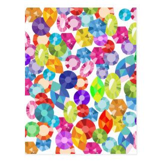 Cartão Postal cristais de rocha do arco-íris