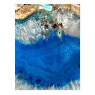 Cartão Postal cristal azul