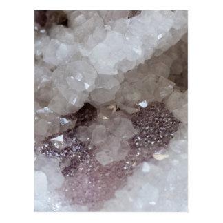 Cartão Postal Cristal da prata & de quartzo