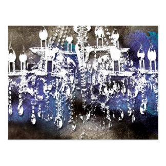 Cartão Postal Cristal do candelabro Noir