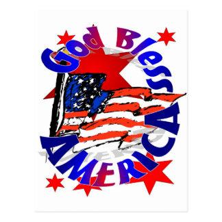 Cartão Postal Cristão de América dos deus abençoe