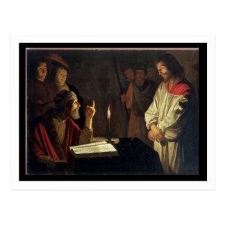 Cartão Postal Cristo antes de Caiaphas (óleo em canvas)