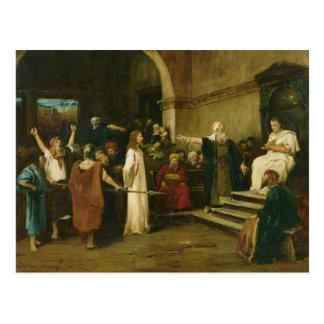 Cartão Postal Cristo antes de Pilate, 1880