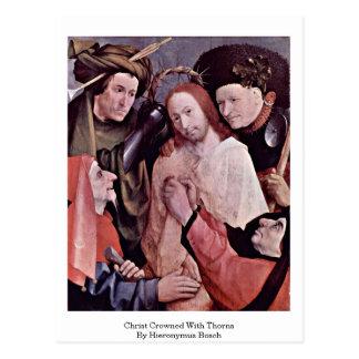 Cartão Postal Cristo coroado com espinhos. Por Hieronymus Bosch