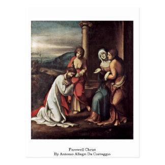 Cartão Postal Cristo de adeus por Antonio Allegri a Dinamarca