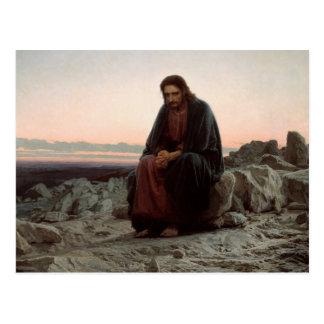 Cartão Postal Cristo de Ivan Kramskoy- nas belas artes da região