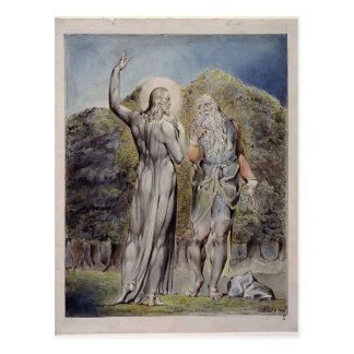 Cartão Postal Cristo de William Blake tentado pela satã