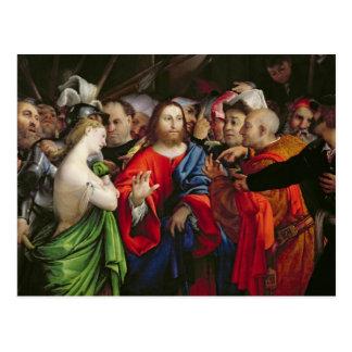 Cartão Postal Cristo e o Adulteress, c.1527-29
