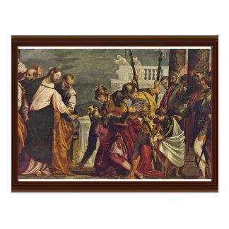 Cartão Postal Cristo e o Centurion de Capernaum por Veronese