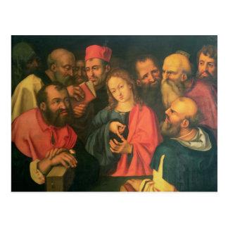 Cartão Postal Cristo, envelhecido doze, entre os escreventes