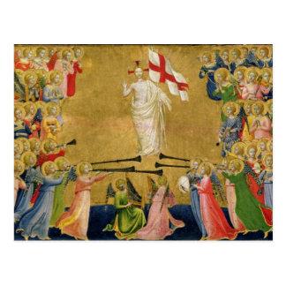 Cartão Postal Cristo glorificado na corte do céu, 1423-24