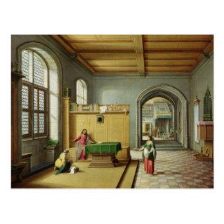 Cartão Postal Cristo na casa de Martha e de Mary