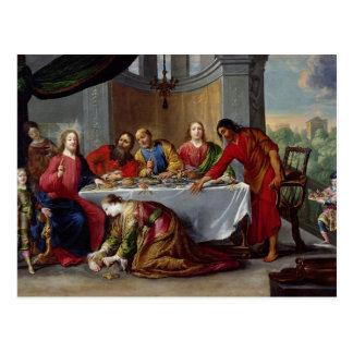 Cartão Postal Cristo na casa de Simon o Pharisee