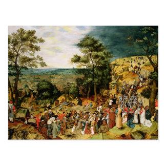 Cartão Postal Cristo na estrada ao calvário, 1607