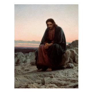 Cartão Postal Cristo na região selvagem - belas artes de Ivan