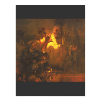 Cartão Postal Cristo negado Peter do apóstolo por Rembrandt