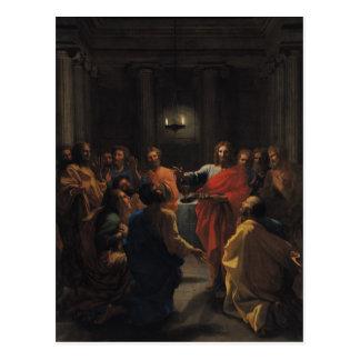 Cartão Postal Cristo que institui o Eucaristia