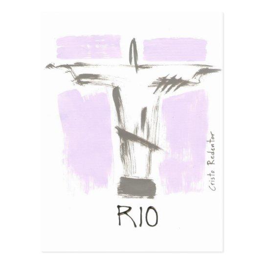 Cartão Postal Cristo Redentor Rio Brasil