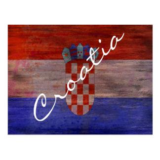 Cartão Postal Croatia afligiu a bandeira