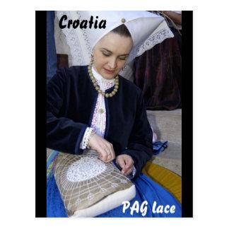 Cartão Postal Croatia, laço do PAG