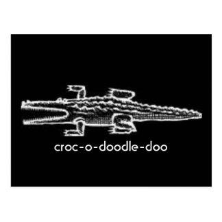 Cartão Postal croc-o-doodle-doo