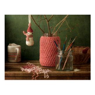 Cartão Postal Crochet para o Natal