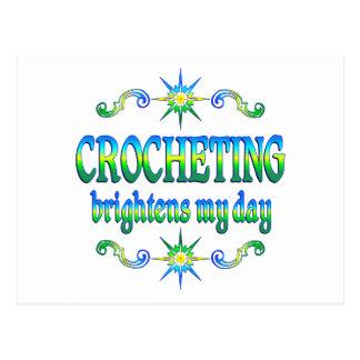 Cartão Postal Crocheting ilumina