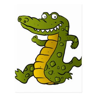 Cartão Postal Crocodilo dos desenhos animados