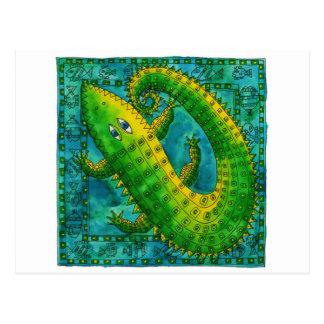 Cartão Postal Crocodilo modelado