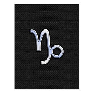 Cartão Postal Crome o sinal do zodíaco do Capricórnio do estilo