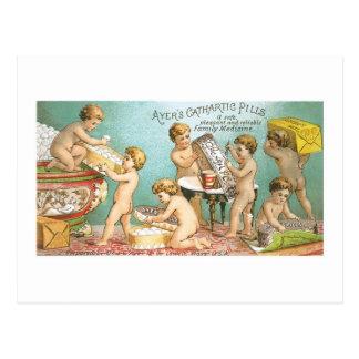 Cartão Postal Cromo de colecção catártico dos bebês dos