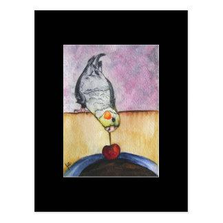 Cartão Postal Cromo de colecção da arte do mergulho da cereja