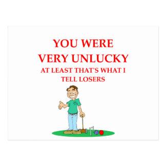 Cartão Postal croquet