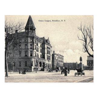 Cartão Postal Crown Heights, Brooklyn, vintage de NY