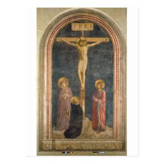 Cartão Postal Crucificação com o Virgin, SS. John o Evangeli