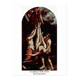 Cartão Postal Crucificação de St Peter por Guido Reni