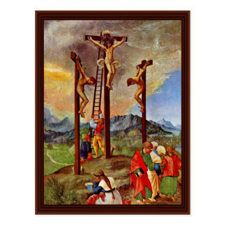 Cartão Postal Crucificação por Altdorfer, Albrecht