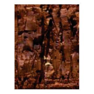 Cartão Postal crumble marrom da rocha