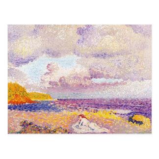 Cartão Postal Cruz de Henri-Edmond uma tempestade entrante