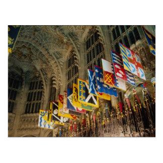 Cartão Postal Cruz grande dos cavaleiros, ordem das bandeiras do