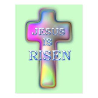 Cartão Postal Cruz-Jesus Pastel É AUMENTADO